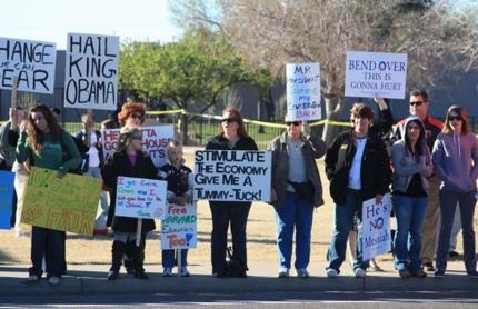 Anti-Obama Entitlement Protest