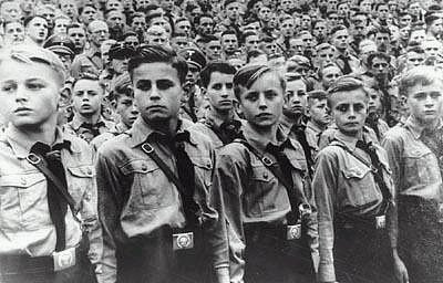 Hilter Youth in Germany praising Hitler