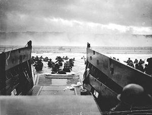 D-Day view from assault craft Omaha Beach June 6, 1944 (Source: Wikipedia.com)