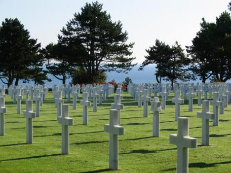 American Cemetery above Omaha Beach (Source: Wikipedia.com)