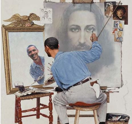 origin unknown (I mean the creator of this image, not Obama!)